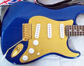 Blue guitar body