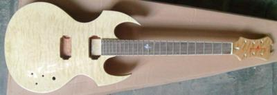 Fireplant Guitars: Natural Finish with Fireplant